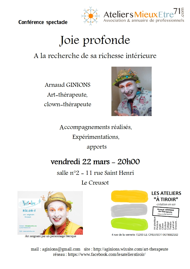 Affiche Arnaud GINIONS clown thérapeute